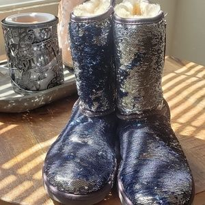 UGG reversable sequin boots